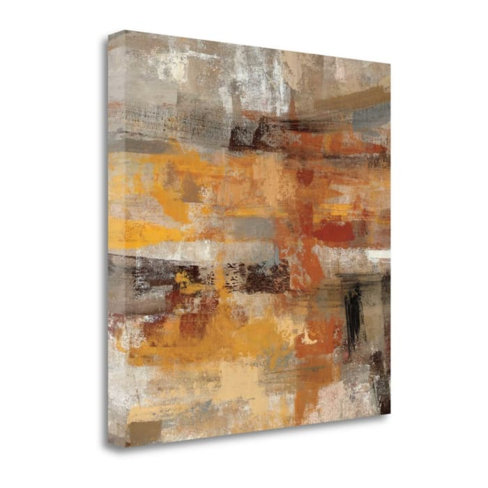 Fine Art Giclee Print on Gallery Wrap Canvas 20 In. x 20 In. Mojave Road Crop By Silvia Vassileva Multi Color