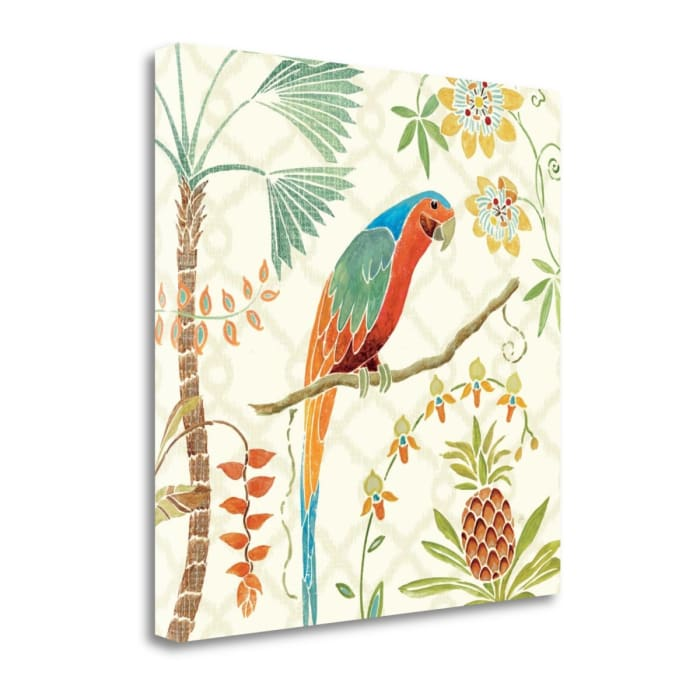 Giclee on Gallery Wrap Canvas 18 In. x 18 In. Tropical Paradise III By Daphne Brissonnet Multi Color