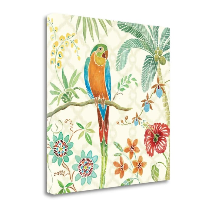 Giclee Print on Gallery Wrap Canvas 18 In. x 18 In. Tropical Paradise IV By Daphne Brissonnet Multi Color