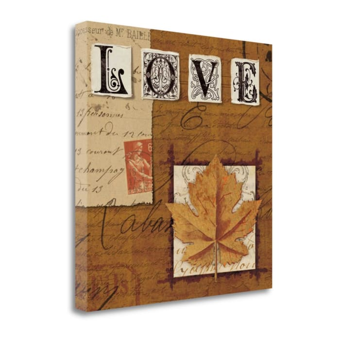 Giclee on Gallery Wrap Canvas 20 In. x 20 In. Natures Journal - Love By Wild Apple Portfolio Multi Color