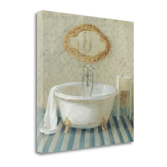 Fine Art Giclee Print on Gallery Wrap Canvas 20 In. x 20 In. Victorian Bath II By Danhui Nai Multi Color