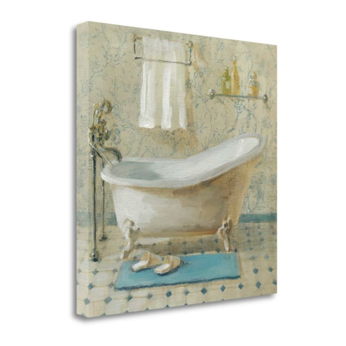 Fine Art Giclee Print on Gallery Wrap Canvas 20 In. x 20 In. Victorian Bath III By Danhui Nai Multi Color