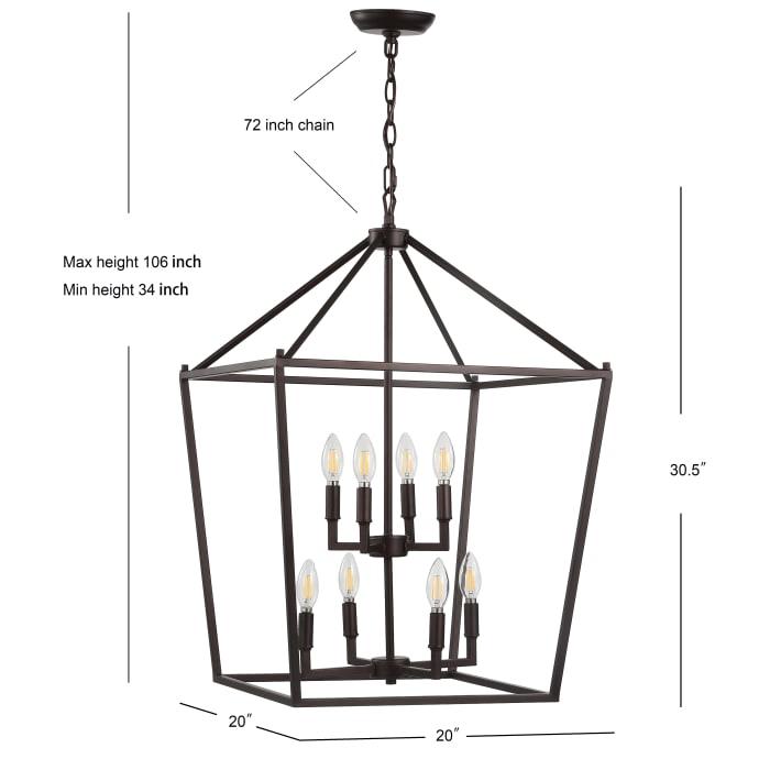Bronze Lantern Metal LED Pendant