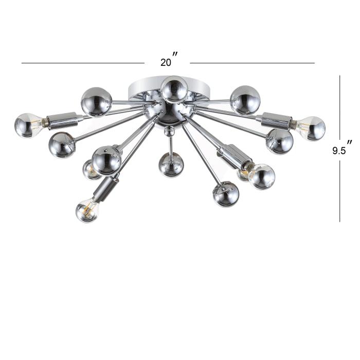 7-Light Metal LED Flush Mount, Chrome