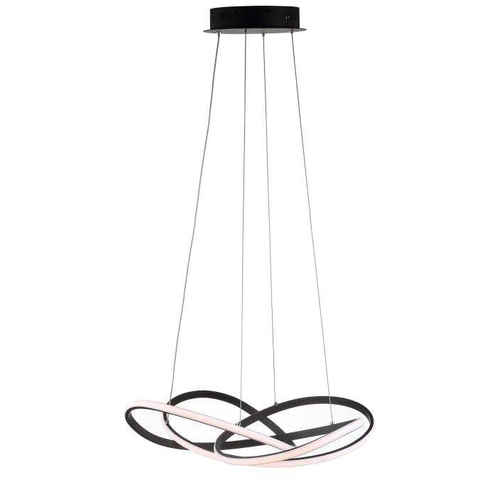 Abstract Integrated LED Metal Adjustable Pendant, Black