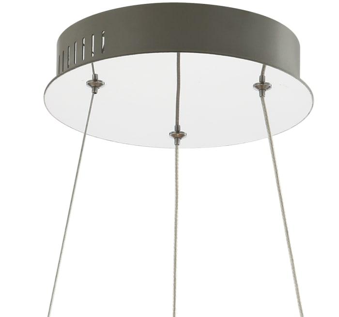 Adjustable Integrated LED Metal/Crystal Chandelier Pendant, Chrome/Clear
