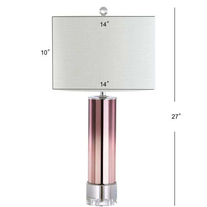 Glass /Crystal Table Lamp, Rose Gold