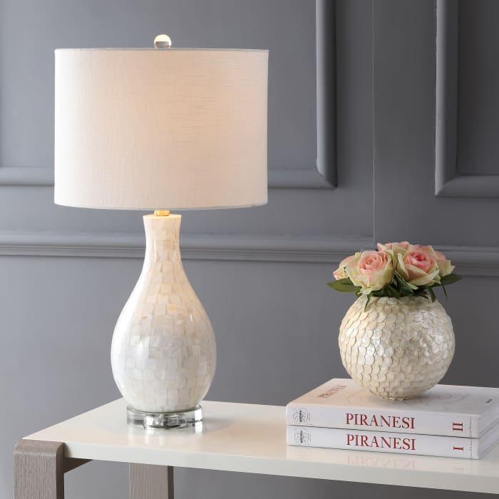 Seashell Table Lamp, White