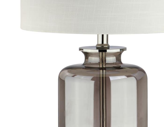 Glass Table Lamp, Smoked Gray