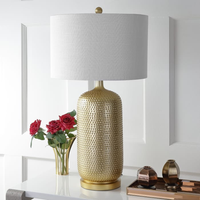 Resin Table Lamp, Gold