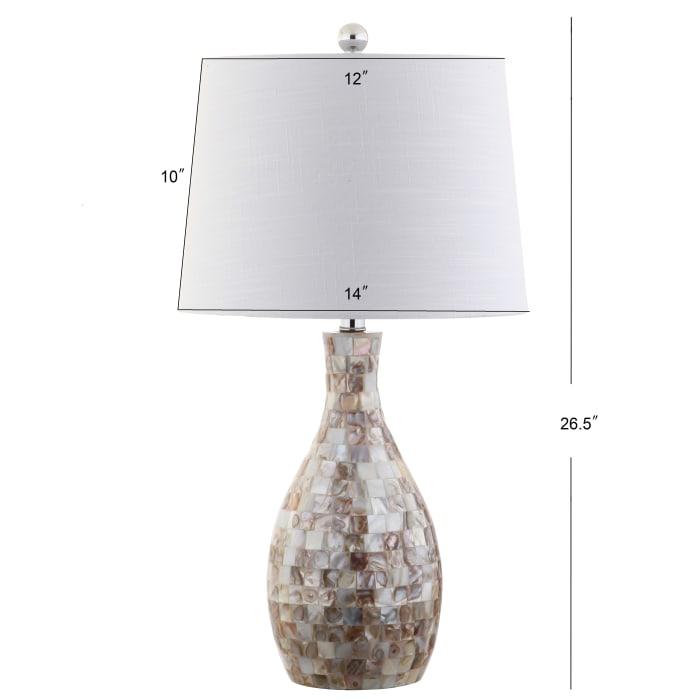 Seashell Table Lamp, Ivory/Beige
