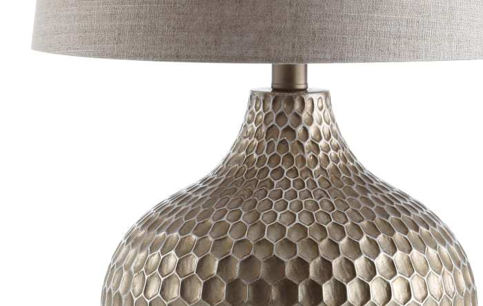 Honeycomb Table Lamp, Antique Brown