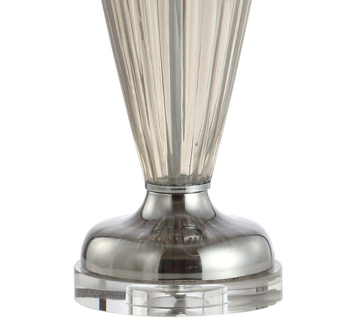 Glass/Crystal Table Lamp, Smoked Grey