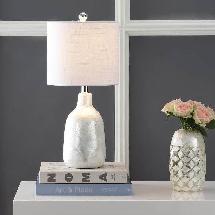 Seashell Table Lamp, Pearl