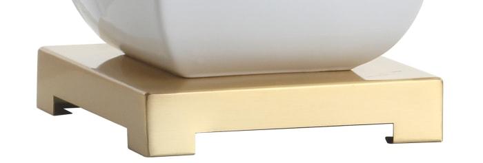 Vienna Ceramic Table Lamp, White/Gold