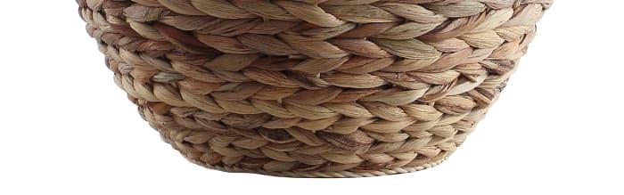 Banana Leaf Basket Table Lamp, Natural
