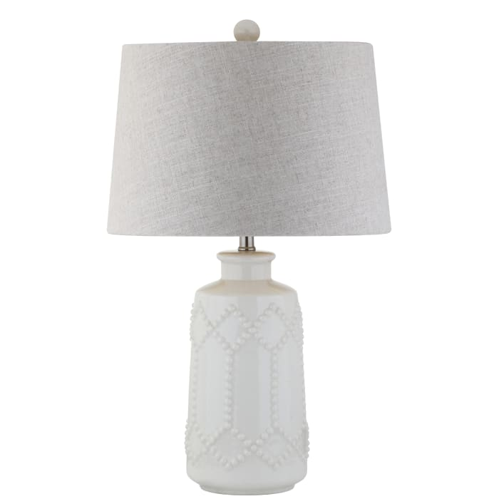 Ceramic Table Lamp, Cream