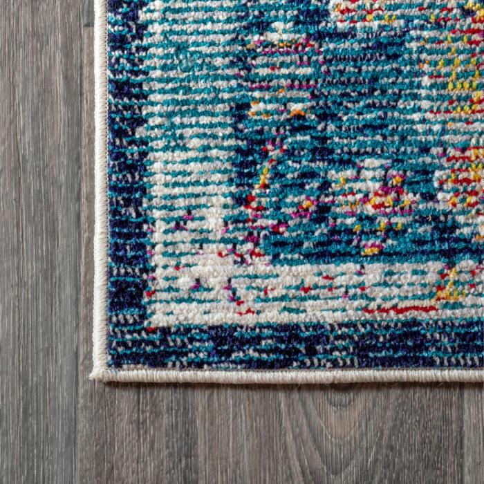 Vintage Medallion Rug Peacock Blue/Navy 4' x 6' Area Rug