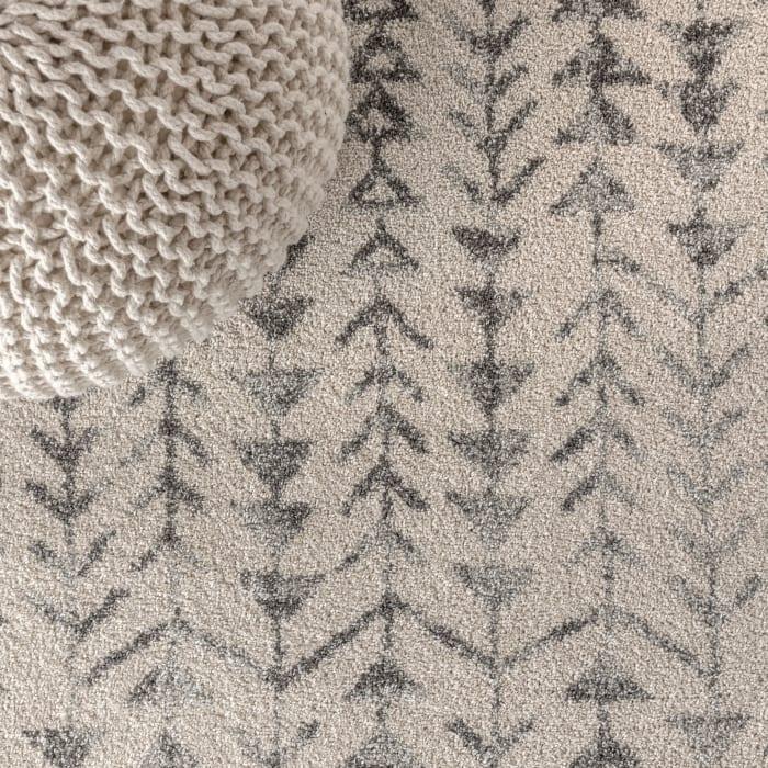 Moroccan Geometric Cream/Gray 4' x 6' Area Rug