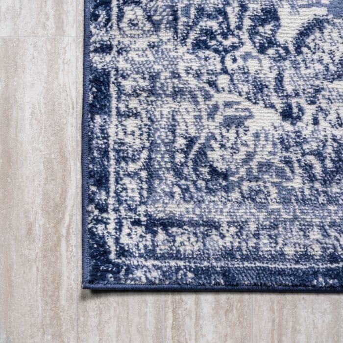Alhambra Ornate Medallion Modern Navy/Ivory 5' x 8' Area Rug