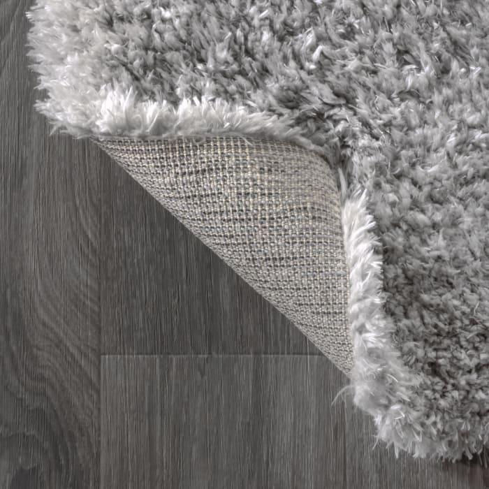 Solid Plush Shag Gray 2.25' x 8' Runner Rug