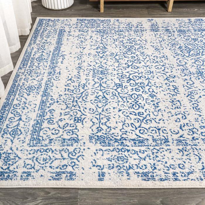 Azul Filigree Blue and White Cream/Blue  3' x 5' Area Rug
