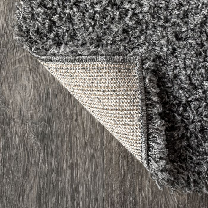 Shag Plush Charcoal 3' x 5' Rectangular Area Rug