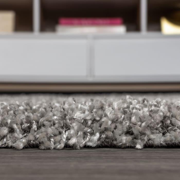 Shag Plush Tassel Grey 3' x 5' Area Rug