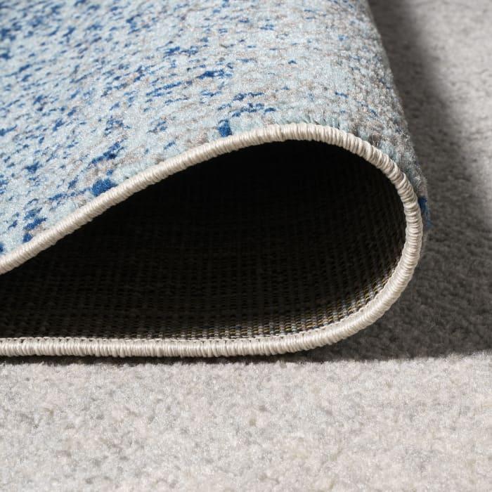Shore Modern Gradient Blue/Cream 2.25' x 8' Runner Rug
