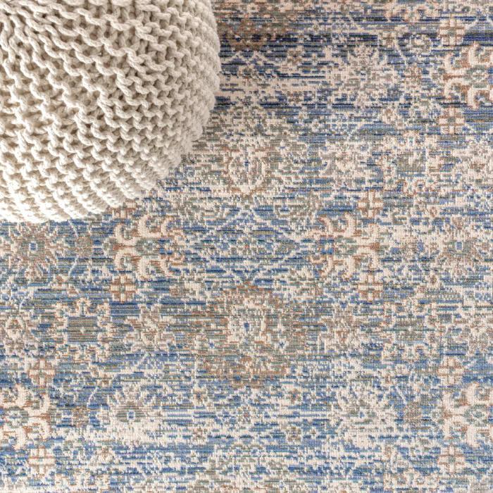 English Country Argyle Indigo Blue 3' x 5' Area Rug