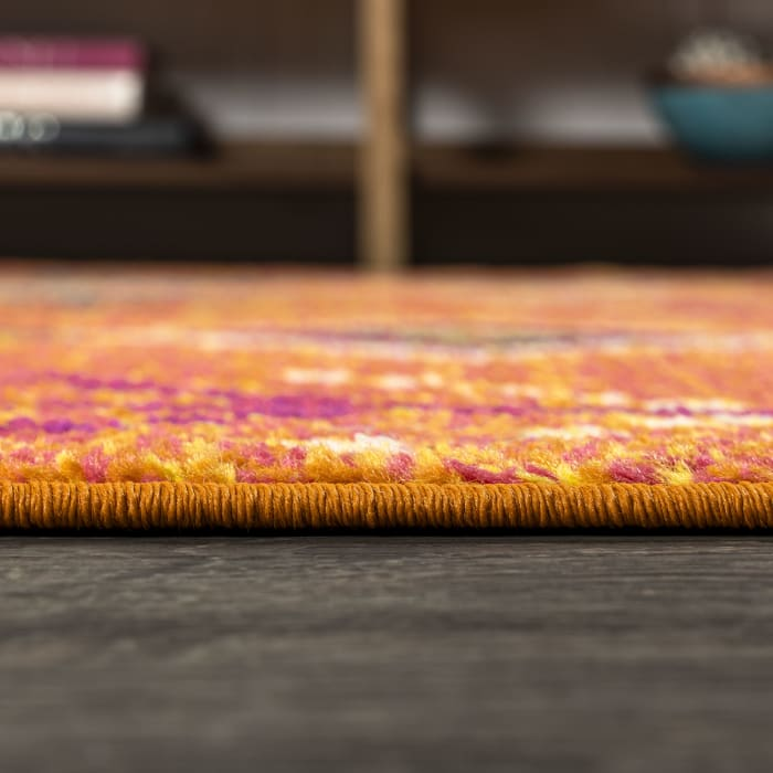 Tribal Love Geometric Orange/Multi 2.25' x 8' Runner Rug