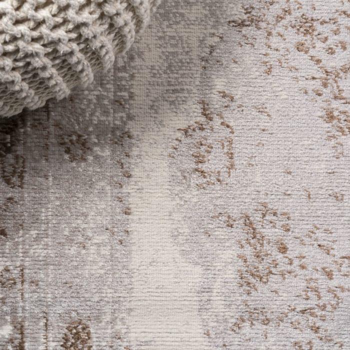 Cottage Medallion Brown/Cream  2' x 8' Runner Rug
