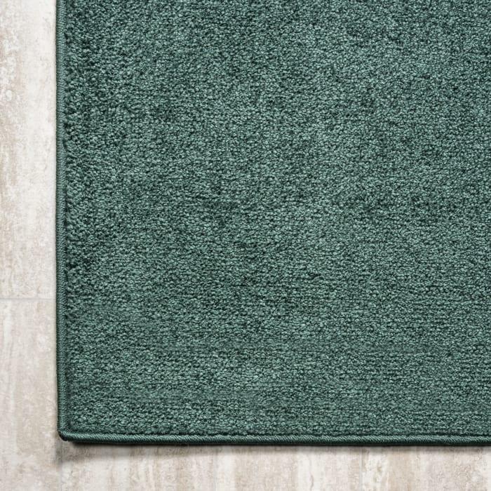 Haze Solid Low-Pile  Emerald 2' x 10' Runner Rug