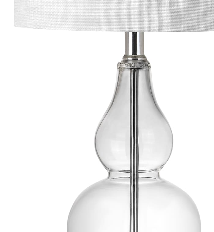Mini Glass Table Lamp, Clear