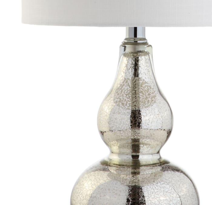 Mini Glass Table Lamp, Silver