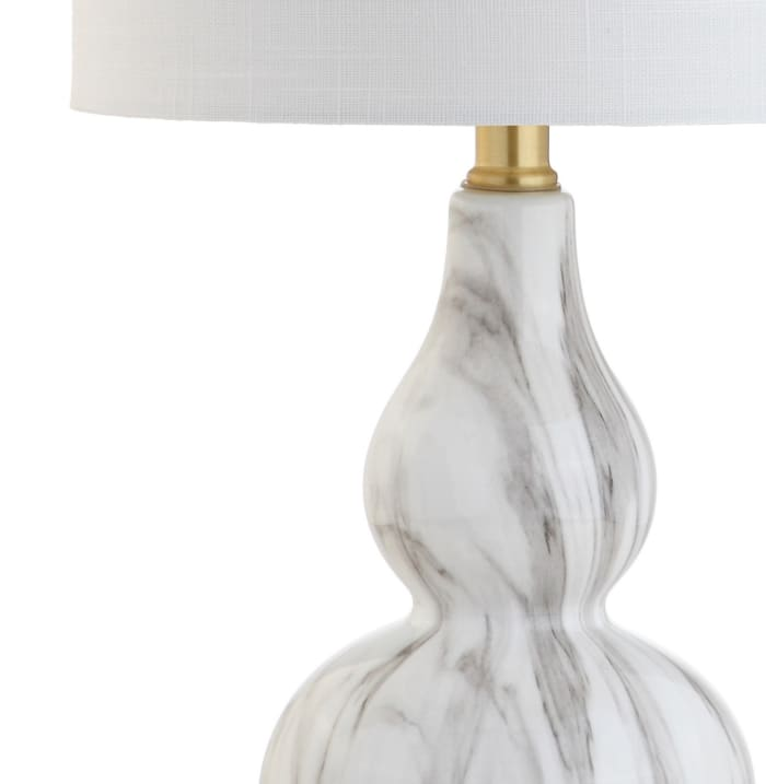 Mini Glass Table Lamp, Black/White (Set of 2)