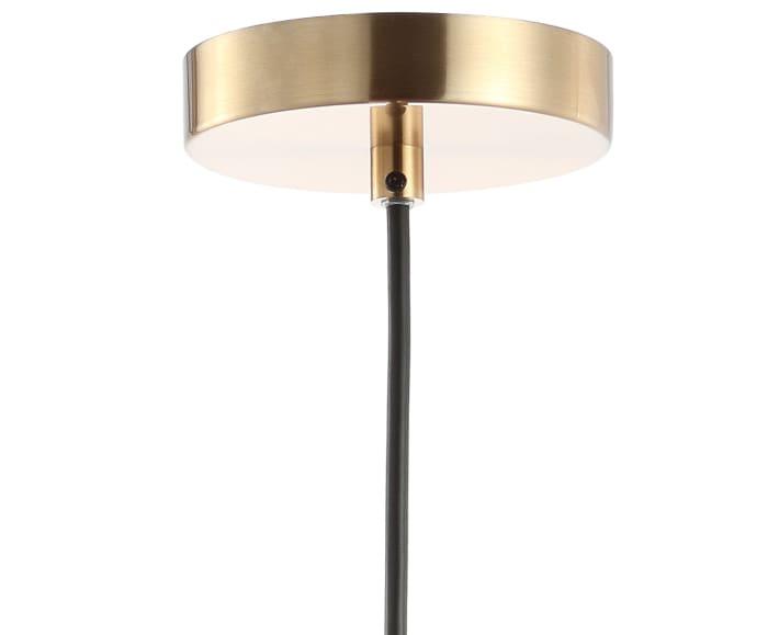 Metal LED Pendant, Black/Brass Gold