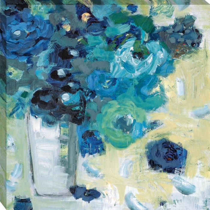 Harmony In Blue By Jennifer Harwood Wrapped Canvas Wall Art
