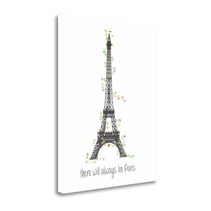There Will Always Be Paris By Jan Weiss Wrapped Canvas Wall Art