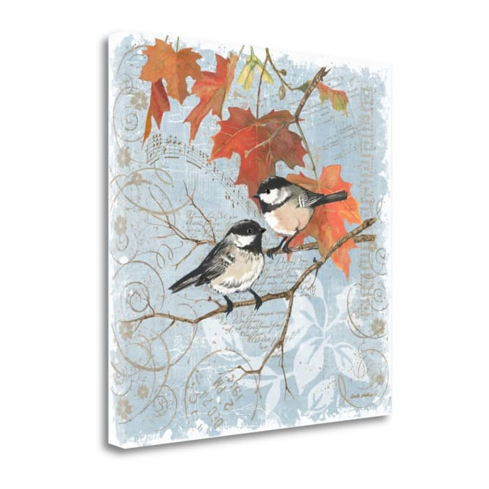 Chickadees III By Anita Phillips Wrapped Canvas Wall Art