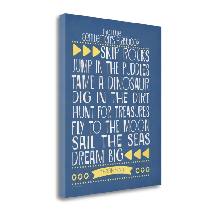 Gentlemans Playbook By Jo Moulton Wrapped Canvas Wall Art