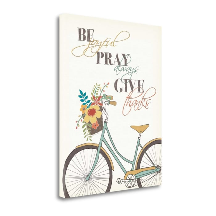 Be Pray Give By Jo Moulton Wrapped Canvas Wall Art
