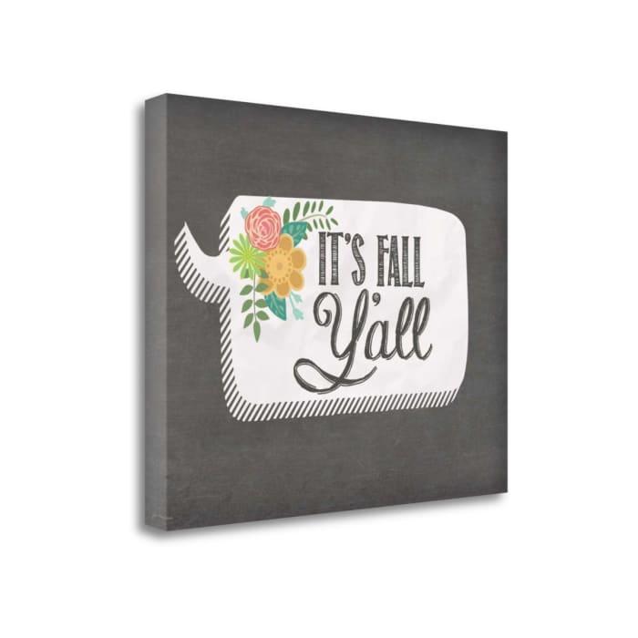 Fall Yall By Jo Moulton Wrapped Canvas Wall Art