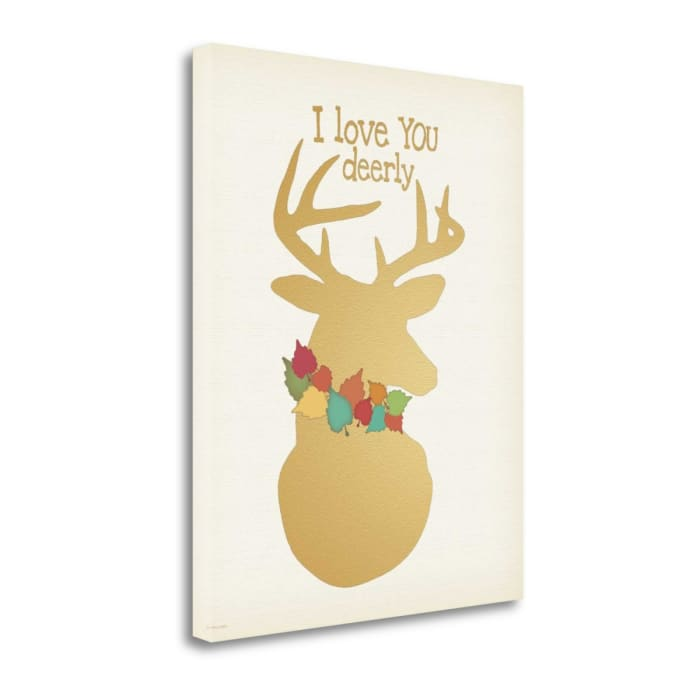 I Love You Deerly By Jo Moulton Wrapped Canvas Wall Art
