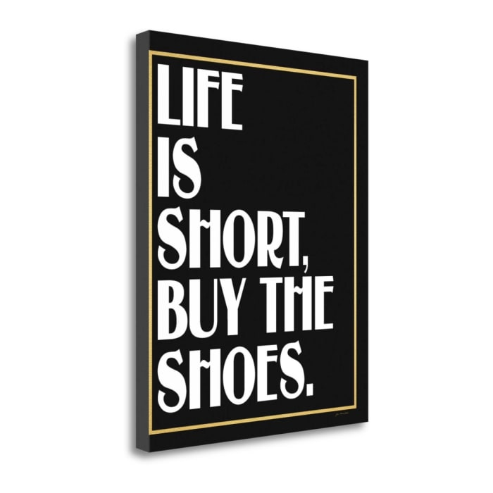 Shoes By Jo Moulton Wrapped Canvas Wall Art