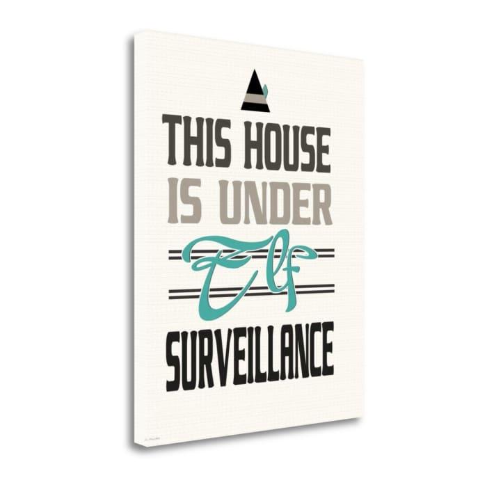 Elf Surveillance By Jo Moulton Wrapped Canvas Wall Art