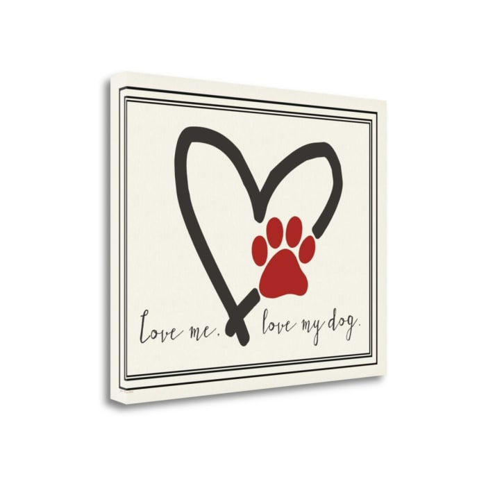 Love Me Dog By Jo Moulton Wrapped Canvas Wall Art