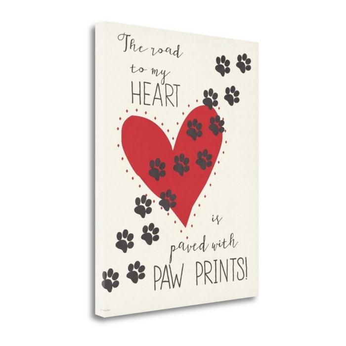 Paw Prints By Jo Moulton Wrapped Canvas Wall Art