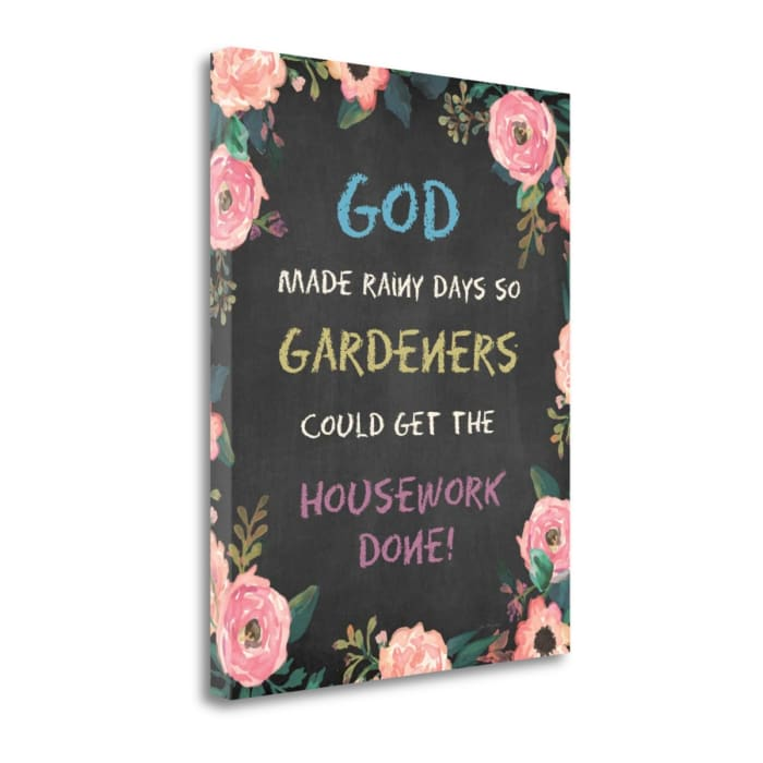 God Made - Floral By Jo Moulton Wrapped Canvas Wall Art