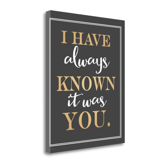 It Was You By Jo Moulton Wrapped Canvas Wall Art